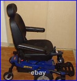 Jazzy Select 6 Motorized Power Electric Wheelchair low mileage new battery blue