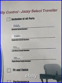 Jazzy Select Traveler Mobility Chair powered, 2 Motor & Batteries variable speed