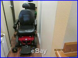 Jazzy power wheelchair red/black folding back, arms, legs great batteries, motors