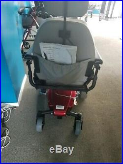 Jazzy wheelchair GT. (New Batteries, caster and arm) Red Powerchair