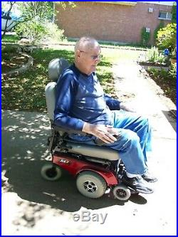 Jet 7 Ultra Power Wheelchair Maroon Light Grey New Battery Cover Documents