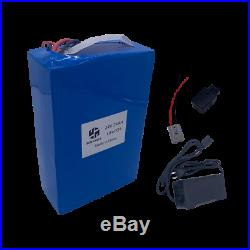 LiFePO4 24V 24AH Lithium Battery Pack Charger Electric Wheelchairs Rechargeable