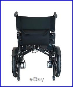 Lightweight Heavy Duty Lithium Battery Electric Power Wheelchair Folds BLUE