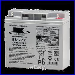 MK Battery 12V 18 AH Sealed Lead Acid, Great for Scooters and Powerchair