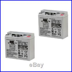 MK Battery 12V 18 AH Sealed Lead Acid x (PAIR) Great for Scooters and Powerchair