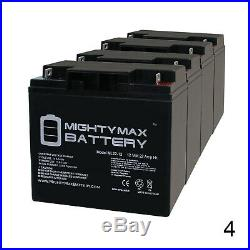 Mighty Max 12V 22AH Battery for Cobalt X14 Power Wheelchair 4 Pack