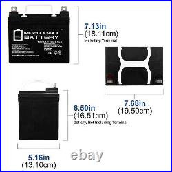 Mighty Max 12V 35AH Battery Replaces Pride Jet 3 Ultra Power WheelChair 2 Pack