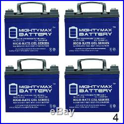 Mighty Max 12V 35AH GEL Battery Replaces Drive Medalist RWD Power Chair 4 Pack