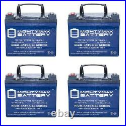 Mighty Max 12V 35AH GEL Battery Replaces ShopRider Folding Power Chair 4 Pack