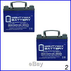 Mighty Max 12V 35AH GEL Replaces Hoveround Teknique FWD Powerchair 2 Pack