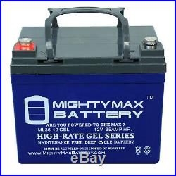 Mighty Max 12V 35AH GEL Replaces Pride Jazzy Select Elite Powerchair 2 Pack