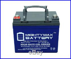 Mighty Max 12V 35AH GEL Replaces The Jazzy Sport 2 Electric Wheelchair 2 Pack