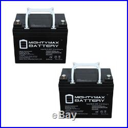 Mighty Max 12V 35AH INT Battery Replaces Jazzy Select GT Power Chair 2 Pack