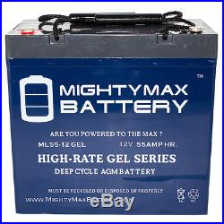 Mighty Max 12V 55AH GEL Battery for Invacare 3G Storm Arrow Electric Wheel Chair