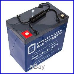 Mighty Max 12V 55AH GEL Battery for Pride Mobility QUANTUM 1122 Powerchair