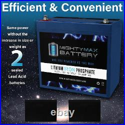 Mighty Max 12V 55AH Lithium Battery Replaces Merit Vision P327/P327-2 PowerChair