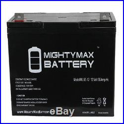 Mighty Max 12V 55Ah Battery Replacement for Pride Jet 1 HD Power Chair
