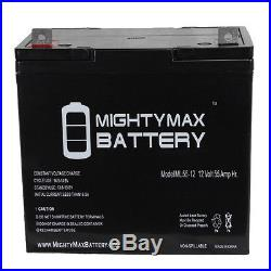 Mighty Max 12V 55Ah Battery for Invacare 3G Storm Ranger X Electric Wheel Chair