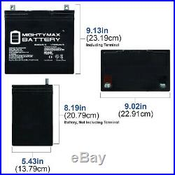 Mighty Max 12V 55Ah Battery for Sunrise QM 720 Power Wheelchair 2 Pack