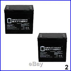 Mighty Max 12V 55Ah Battery for Sunrise Quickie Pulse 6CC Powerchair 2 Pack