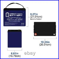 Mighty Max 12V 75AH GEL Battery Replaces Pride Mobility QUANTUM 1122 Powerchair