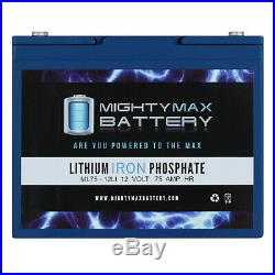 Mighty Max 12V 75AH Lithium Battery Replacement for Quantum Q600Z Power Chair