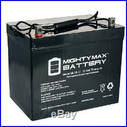 Mighty Max 12V 75Ah Battery For Sunrise Medical Quickie QM-710 Power Wheelchair