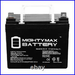 Mighty Max 2 Pack 12V 35AH Battery For Invacare Pronto 31 Electric Wheelchair