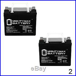 Mighty Max 2 Pack 12V 35AH Battery for Invacare Pronto P31 Power Wheelchair