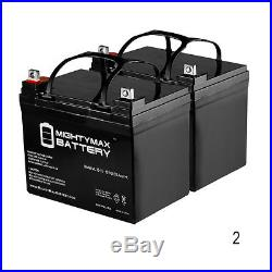 Mighty Max 2 Pack 12V 35AH Battery for The Jazzy Sport 2 Electric Wheelchair