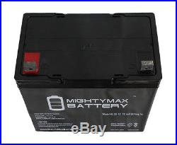 Mighty Max 2 Pack 12V 55Ah Battery for Sunrise Medical QM-710 Power Wheelchair
