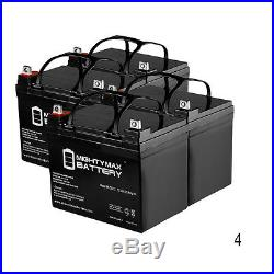 Mighty Max 4 Pack 12V 35AH Power Wheelchair Battery Replaces 40ah Tempest TR40