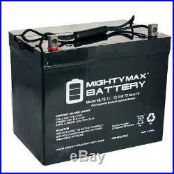Mighty Max ML75-12 12V 75Ah Battery for Quantum Q600Z Power Chair