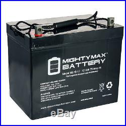 Mighty Max ML75-12 12V 75Ah Replaces Hoveround XHD Power Chair Scooter Jazzy Btt