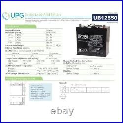 NEW 12V 55AH Replacement Battery 4 Sunrise Medical Quickie Pulse 6SC Powerchair