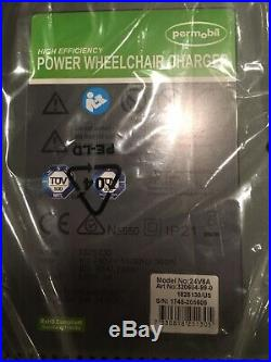 NEW Permobil Power Wheelchair Battery Charger 24V 8AModel 24V8A High Efficiency