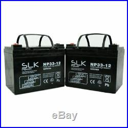 PAIR 12v 33AH QUALITY SLK POWER MOBILITY SCOOTER ELECTRIC WHEELCHAIR BATTERIES