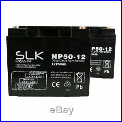 PAIR 12v 50AH MOBILITY SCOOTER BATTERIES FOR SUNRISE QUICKIE RUMBA POWERCHAIR