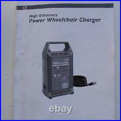 Permobil M300 M 300 Power Chair Battery Charger 8 amp with charger book