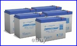 Power-Sonic 12V 10.5AH Battery Replaces UltraLite Fold&Go Powerchair 750 5Pack