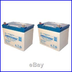Power-Sonic 12V 35AH SLA Battery for Hoveround Teknique FWD Powerchair 2 Pack