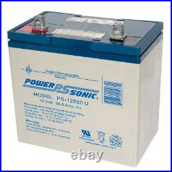 Power-Sonic 12V 55Ah Replacement Battery for Quantum QG edge 2.0 Power Chair