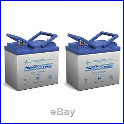 Power-Sonic 2 Pack 12V 35AH Battery for Invacare Panther LX-4 Power Chair Scoo