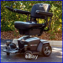 Pride GO-CHAIR Travel Electric Mobility Power chair Used + 18AH Batteries WHITE
