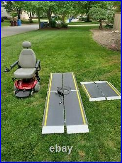 Pride Jazzy Select Power Wheelchair New Batteries Included and foldable ramps