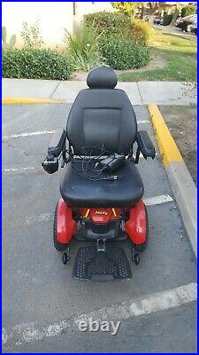 Pride Mobility Jazzy Elite 14 Electric Wheelchair Red includes batteries