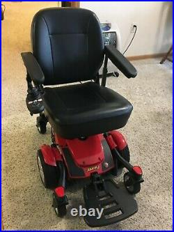 Pride Mobility Jazzy Select 6 Red Power Chair with 2 New Batteries