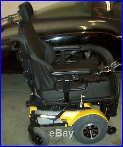 Quantum 1450 Electric Power Tilt Wheelchair with Battery Charger (Orion Yellow)
