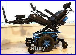 Quantum Q6 Edge 3 Power Wheelchair, Electric Blue, only 59 miles, new batteries