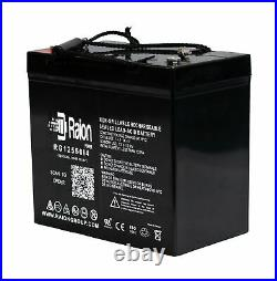 Raion 12V 55Ah Battery For Electric Mobility Rascal Power Chair 22NF 2 PK